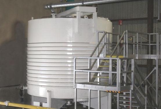 Blending Tank at Solchem Custom Packaging in Houston Texas serving all your Custom Packaging needs.